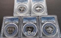 1999-S 25C PCGS PR70DCAM Top Registry 5 Coin completed Silver Key Date Set