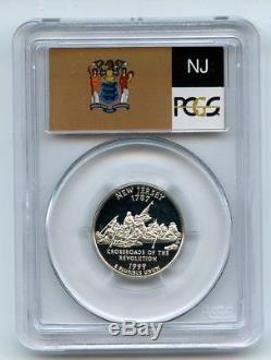 1999 S 25C Silver New Jersey Quarter PCGS PR70DCAM