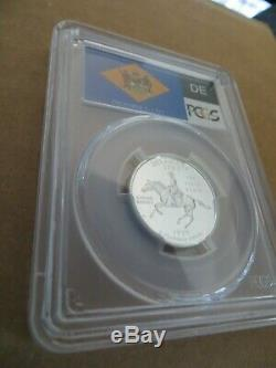 1999-S 25c Delaware SILVER Flag Label Quarter Proof PCGS PR70DCAM