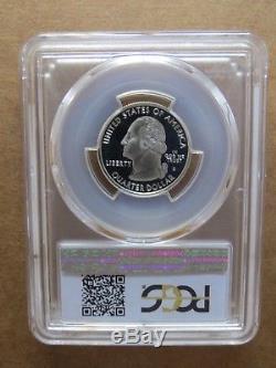 1999-S 25c SILVER Delaware Blue Label PCGS PR70DCAM Quarter Proof Key Date