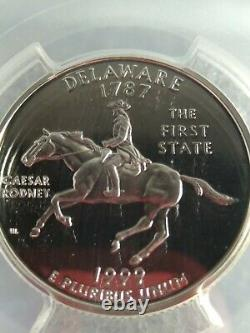 1999-S DELAWARE Washington 25c DE State Quarter PCGS PR70DCAM SILVER