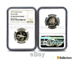 1999 S Delaware Silver State Quarter Ngc Pf70 Ultra Cameo