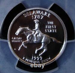 1999-S Delaware Silver State Quarter PCGS PR 70 DCAM