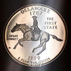 1999-S Delaware State Quarter Silver Proof ICG PR70 DCAM