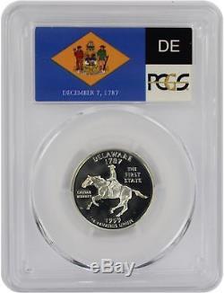 1999-S Flag Silver Delaware DE State Quarter PR70DCAM PCGS Proof 70 Deep Cameo