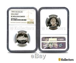 1999 S New Jersey Silver State Quarter Ngc Pf70 Ultra Cameo
