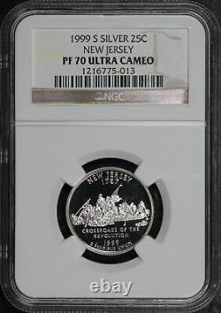 1999-S New Jersey State Quarter NGC PF-70 Ultra Cameo