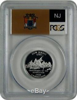 1999-S PCGS PR70DCAM New Jersey SILVER Statehood Quarter