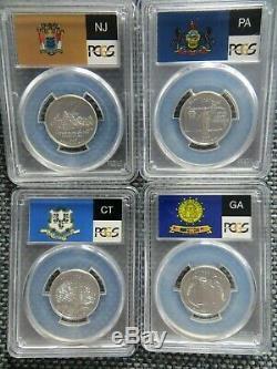 1999 S SILVER Jersey Pennsylvania Georgia Connecticut No DE PCGS PR70DCAM 4 Coin