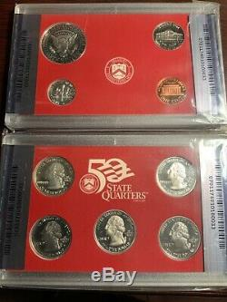 1999 S SILVER Proof SET ANACS PF70 DCAM 9 COINS DELAWARE, Kennedy, PA NJ GA CONN