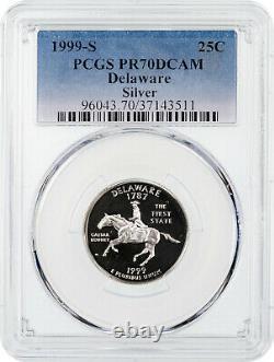 1999-S Silver Delaware State Quarter PCGS PR70DCAM RARE