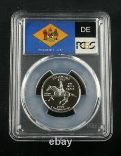 1999 S Silver Quarter Delaware Pcgs Pr70 Dcam