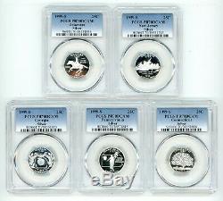 1999 S Silver Quarters 25c Set Pcgs Pr70dcam 38551886