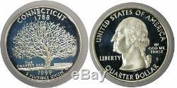 1999 S Silver State Quarter Proof 5 Piece Set DE, PA, NJ, CT, GA ICG PR70 DCAM