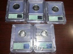 1999-S Silver State Quarter Proof Set ICG PR70 DCAM Delaware DE, NJ, PA, GA, CT