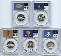1999 S Silver State Quarter Set PCGS PR70DCAM