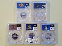 1999-S Silver State Quarters Five (5) coin set PCGS PR70DCAM -Deleware