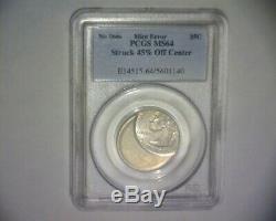 (1999) Washington Quarter, 45% Off Center Ms-64 Delaware State Us Error Coin