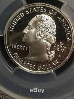 1999-s Delaware Silver Quarter-pcgs Pr70dcam-frosted Cameo Proof-flag Label