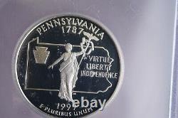 1999-s Icg Pr70 Dcam State Quarter Silver Proof Set5 Coin Set