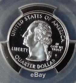 1999-s Silver Washington Delaware Flag Label Quarter Pcgs Pr70dcam