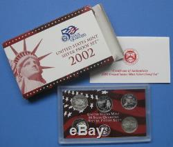 1999 thru 2008 & 2009 Silver State Quarter 5pc Proof sets with Boxes & COA's