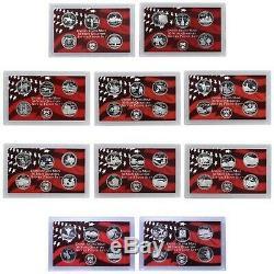 1999 thru 2008 Silver State Quarter Coin Collection 50 25 Cent No Box No COA 25c