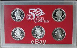 1999 thru 2009 Silver Proof State Quarter Run Silver No Box No COA 56 Coin Lot