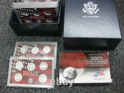 1999 thru 2009 Silver State Quarter Proof Set with Government Packaging & COAs