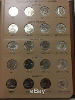 1999 to 2003 PDSS STATE QUARTER SET IN DANSCO ALBUM 100 COIN SET SILVER Proof