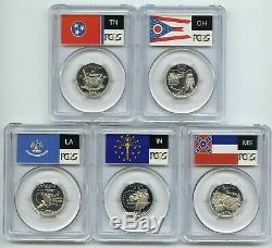 1999 to 2009-56 Silver Quarters PCGS PR69DCAM-50 State & 6 territories