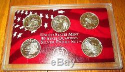 2000 01 02 03 Silver Quarter Proof Set U. S. Mint San Francisco No Box No COA