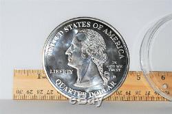 2000 GIANT SILVER STATE QUARTER 4 OZ (. 999 FINE) coin round 1/4 pound