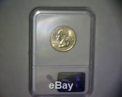 2000 P Washington Quarter, MISSING REVERSE CLAD LAYER, MASS. STATE US ERROR COIN