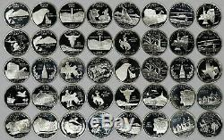 2000+ Proof Silver State Quarters 90% Full Roll 40 Coins (b)