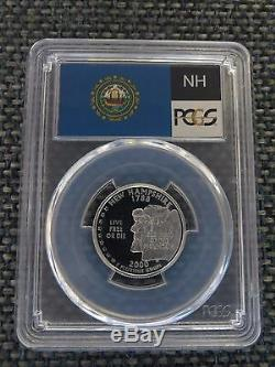 2000-S 25c New Hampshire SILVER Quarter Proof PCGS PR70DCAM State Flag Label