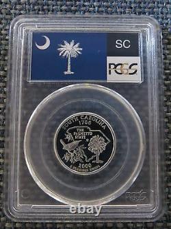2000-S 25c South Carolina SILVER State Flag Quarter Proof Coin PCGS PR70DCAM