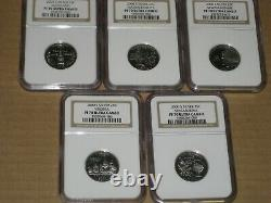2000 S Silver Proof State Quarter 5 Coin Set New Hampshire NGC PF70 Ultra Cameo