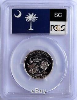 2000-s Silver State Series Washington Quarter Set Flag Labels Pcgs Pr70dcam