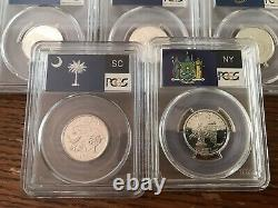 2000s, 2001s, 2003s, 2005s, 2006s 25c STATE SILVER PCGS PR69DCAM LOT of 17 COINS
