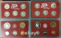 2001-2004-2007-2008 State Quarters Silver Proof Sets