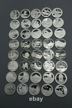 2001-2019 S State Parks Quarter Roll 99.9% Silver Proof 40 Coins ALL DIFFERENT