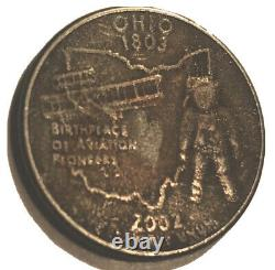 2002 Ohio 1803 State Quarter Black Beauty Improperly Annealed. A Special Error