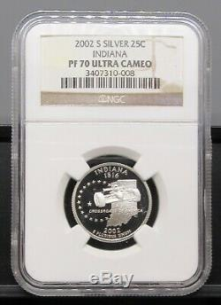 2002 S Indiana Silver NGC PF 70 UCAM
