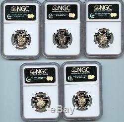 2002 S Silver State 5 Coin Set Proof Quarter PF69 UCAM NGC 25c Certified D2