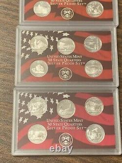 2003 2004 2005 2006 Silver Proof Quarter Set (Free Shipping)