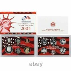 2003 2004 2005 S US Mint Silver Proof Set with State Silver Quarters