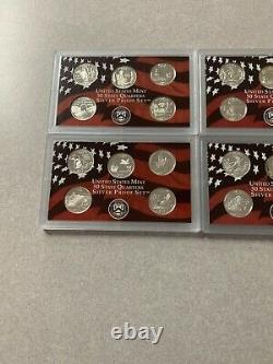2003 2004 2006 2008 Silver Proof Quarter Sets