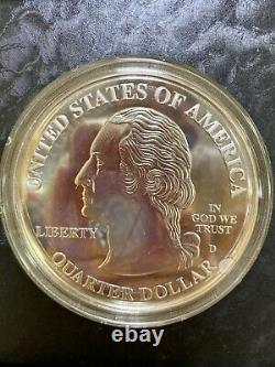 2003 Highland Mint Giant State Quarters 4 Troy Ounces. 999 Fine Silver with COA