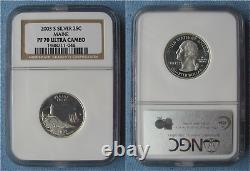 2003 S Silver Proof State Quarters 5-Coin Set all NGC PF 70 Ultra Cameo (25C)